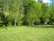 bord de rivière du camping Le pré de Charlet