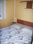 chambre lit double du mobil-home 4 personnes
