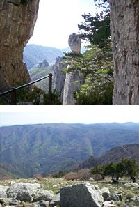 gorges de la Jonte et vue depuis le mont Aigoual