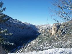Gorges de la Jonte sous la neige